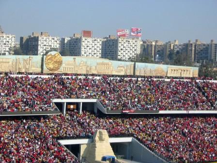 vue du stade à 15H00 cairo 10 feb 2006